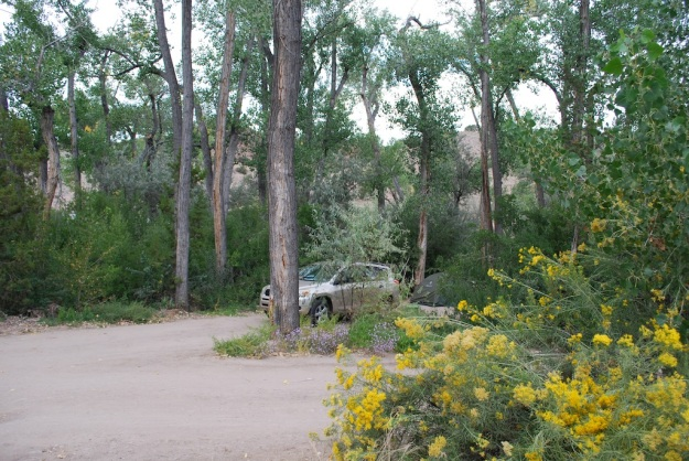 Ojo Caliente campsite Sept 2014