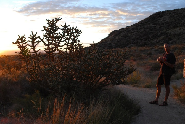 walking in Sandia foothills Sept 2014