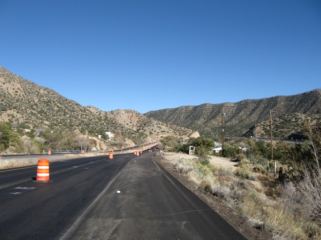 repaving Tijeras Canyon this Fall.  They are providing a smooth new surface from edge to edge, all the way covering the full shoulder.  Thank you!