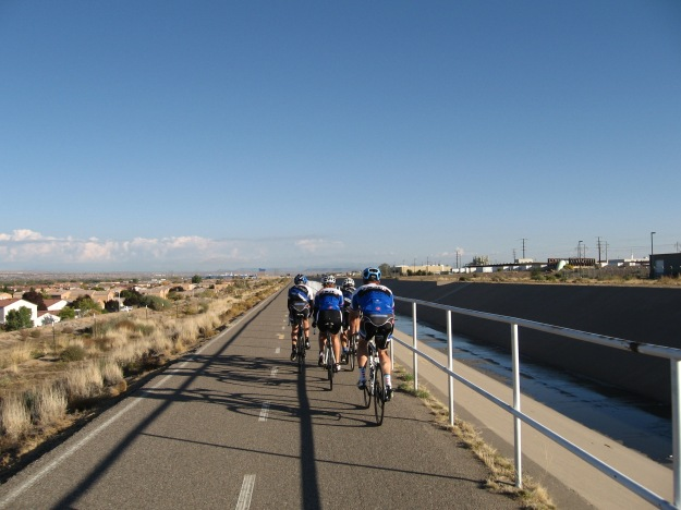 The North Diversion Trail is a multi use path that follows a water channel. Famous for great views during Balloon Fiesta