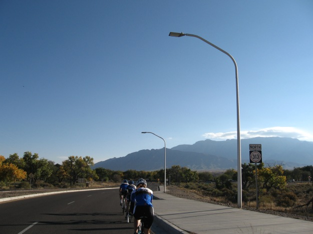 We are going around those mountains you see. Part of the traverse involves a dirt road