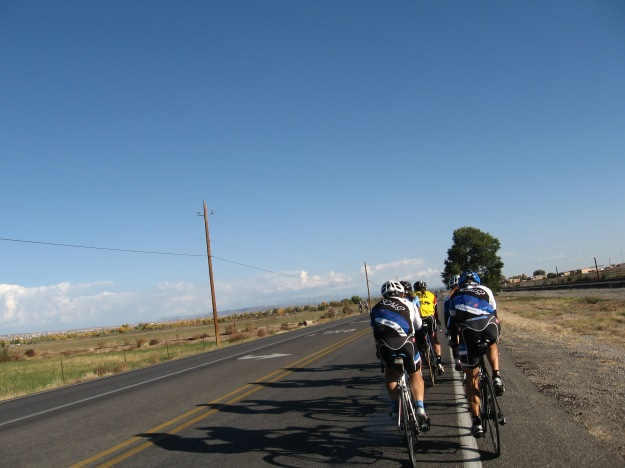 313 north to Bernalillo is a great bike road edged by farm and ranch land, views of the Sandia Mountains, and trees along the Rio Grande
