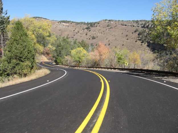 Las Huertas connects to the main road up the Crest, which has just been repaved to the aki area