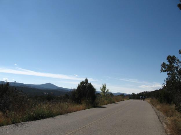 Cedro Peak in the background