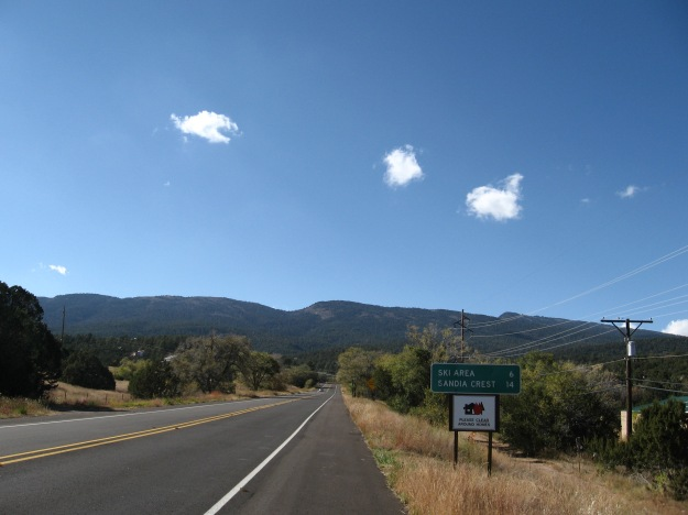 """The climb in earnest begins at the """"Triangle"""" where the Crest Road begins from Hwy 14"""