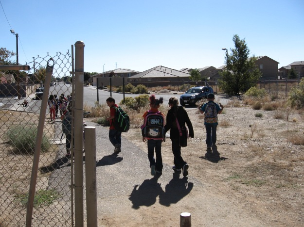 The multi use path has access to adjacent neighborhoods and is very useful for many purposes.  Kids rock.
