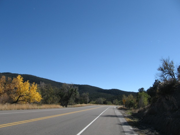here we go.  It takes less than two seconds to get out of town in Tijeras, New Mexico.  I like it.