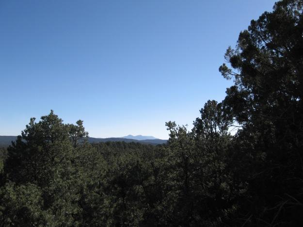 views I've never had before, here is Mosca Peak, I think.  Manzano range