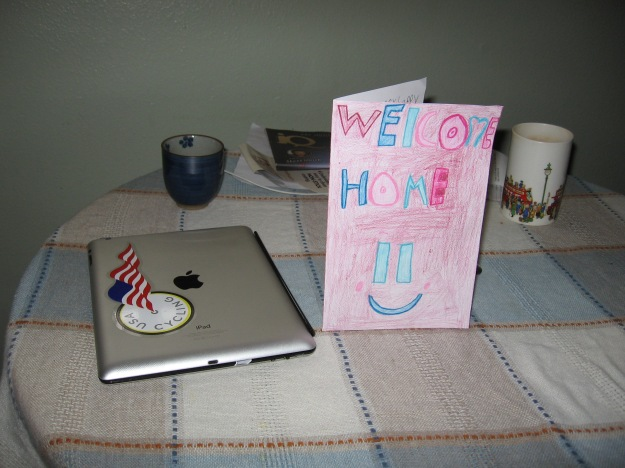 Welcome Home card from Eleah