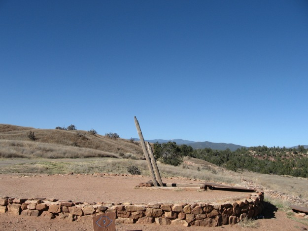 This kiva has been restored so visitors may enter it