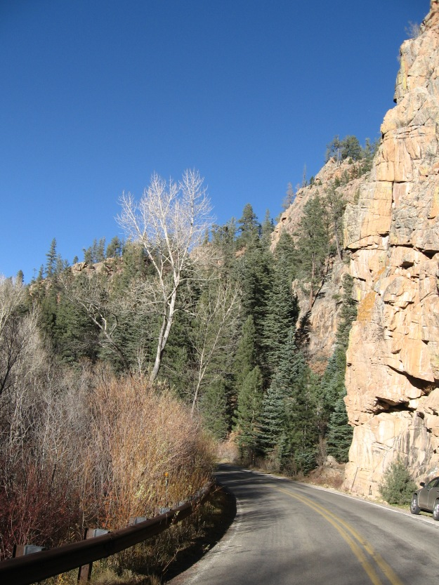 The Pecos river canyon  is not unlike Oak Creek Canyon in Arizona, but at higher elevation