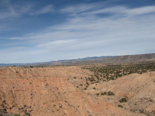 beautiful badlands overlooking the Jemez Canyon
