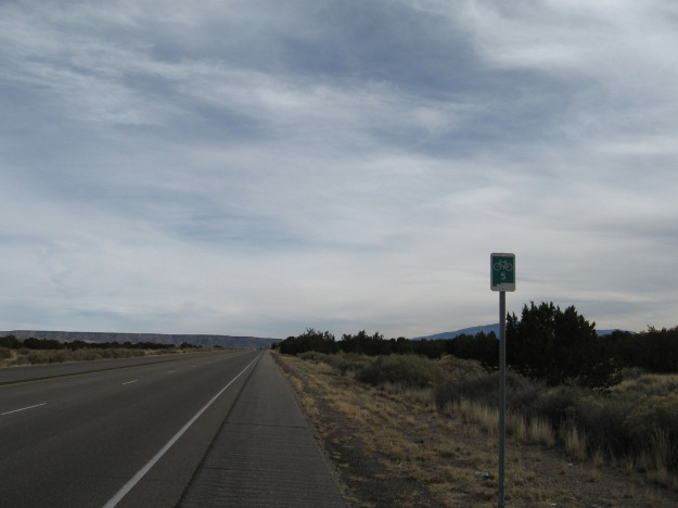 I didn't realize it until I was out there but the route I'm riding today is a designated New Mexico route, # 5