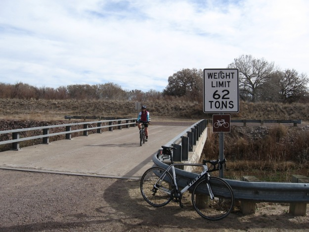 We rode our bikes on the canal trail north.  In spite of a large Thanksgiving meal I made the weight limit on the bridge