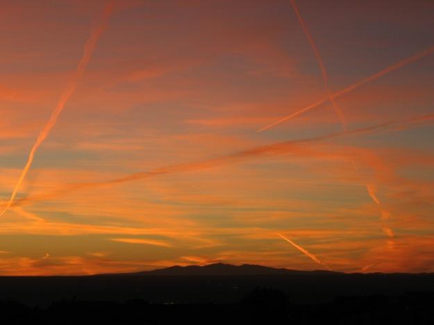 sunset on Sunday night