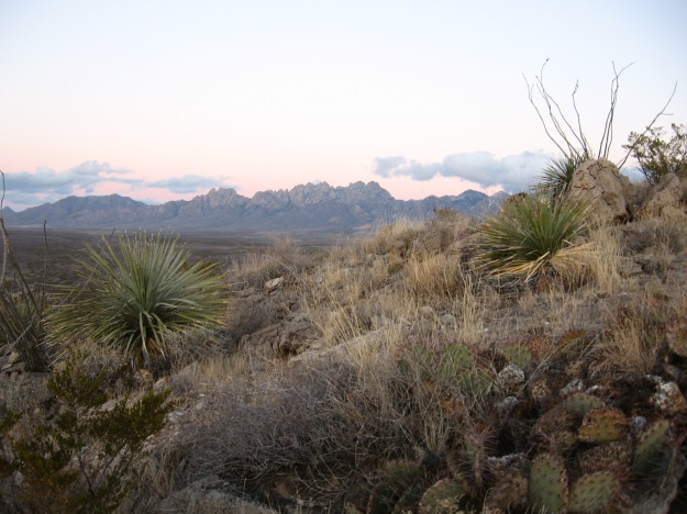 Organ Mountains sunset from Tortugas Mtn. above Las Cruces