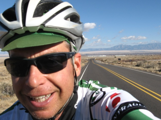 About 40 miles into the ride leaving Los Lunas, when I still had energy left