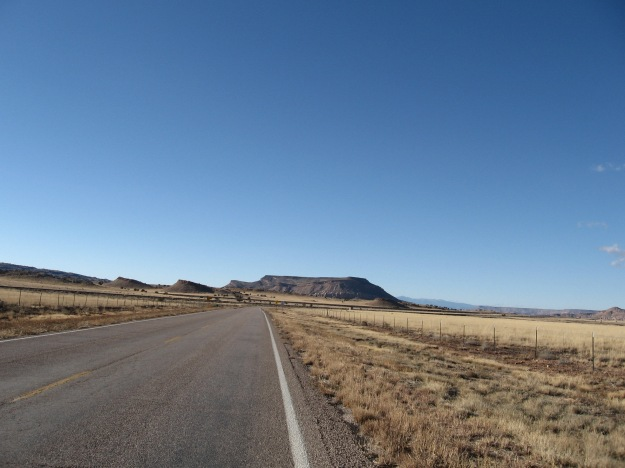 I entered Laguna Pueblo lands and the volcanic mesascapes work in tandem with the sky