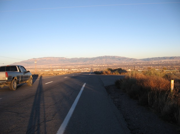 I took Central Ave down la ceja of the West Mesa and back on into Albuquerque.  100 miles of new roads today.  Satisfied.