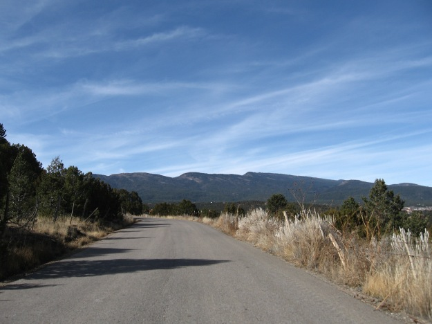Sandia Mtns view from Gutierrez Canyon Rd