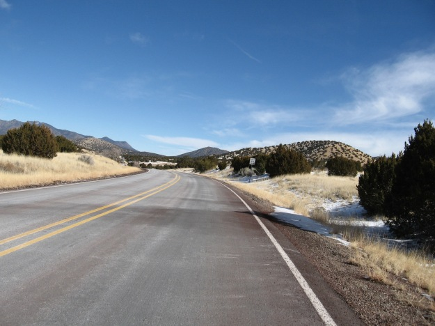 The Turquoise Trail is a quiet jewel with stupendous vistas northwest towards the Jemez