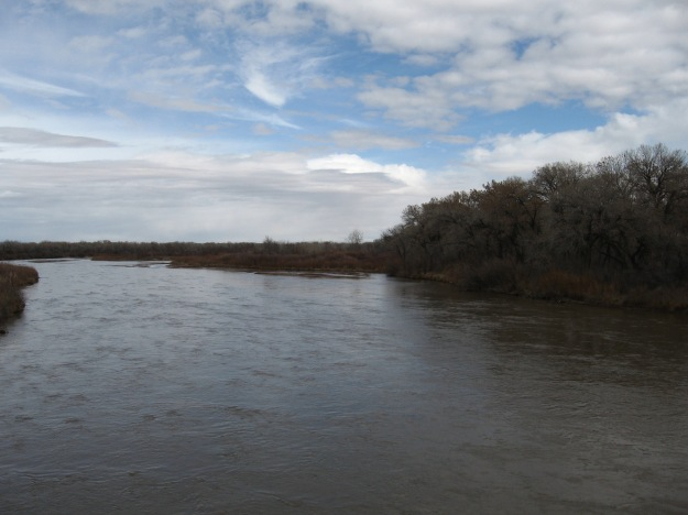 the Rio Grande from the old Alameda Bridge connecting Albuquerque to Corrales and Rio Rancho
