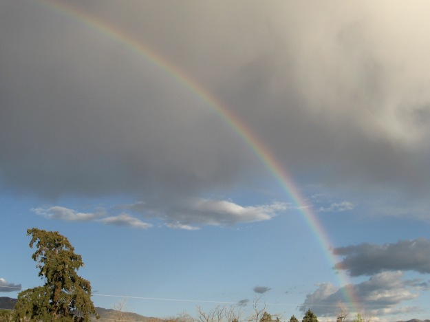 a rainbow on Sunday from our deck
