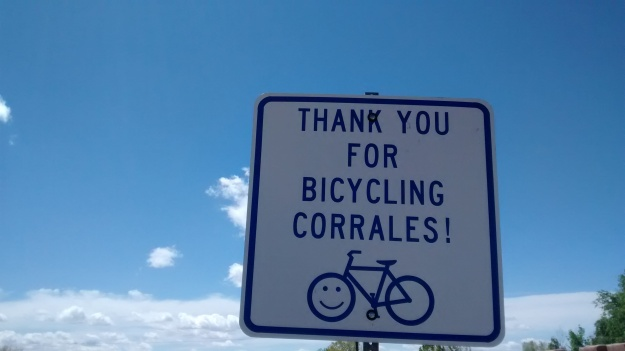 Corrales promotes bicycling and local merchants organize a winery bike tour.  I saw lots of riders out yesterday