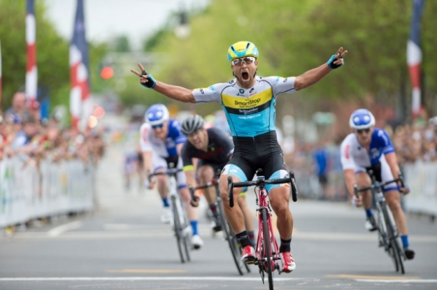 Dr. Eric D. Marcotte winning the US Pro National Criterium Championship 2015