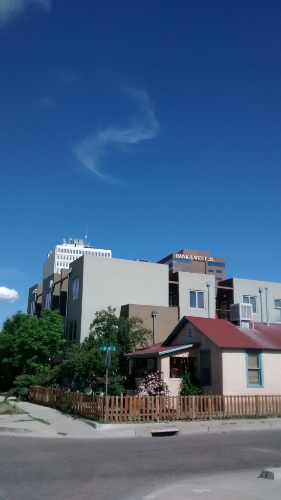 walking downtown to the bike advisory meeting on Monday the sky seemed perfect.  Spend time outside helps us get inspired