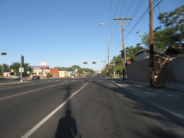 I started out the day riding Lomas from my home to the ride start downtown. All's quiet at 7:30am