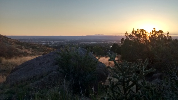 San Mateo Mtns sunset from City View