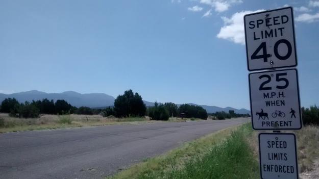 San Pedro Creek Via Entrada road sign
