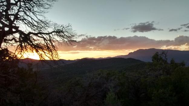Sandia sunset from West Ridge pure form