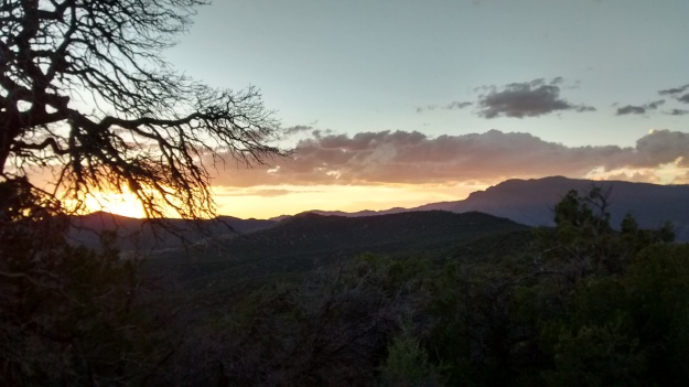 Sandia sunset from West Ridge pure form