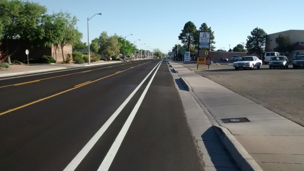 San Pedro redesign space for bike peds