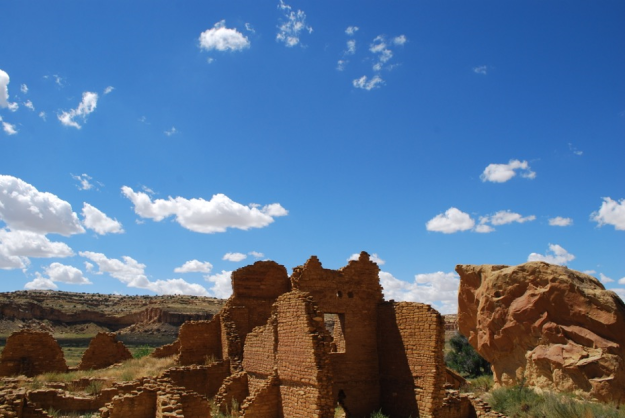 ruins and cliff