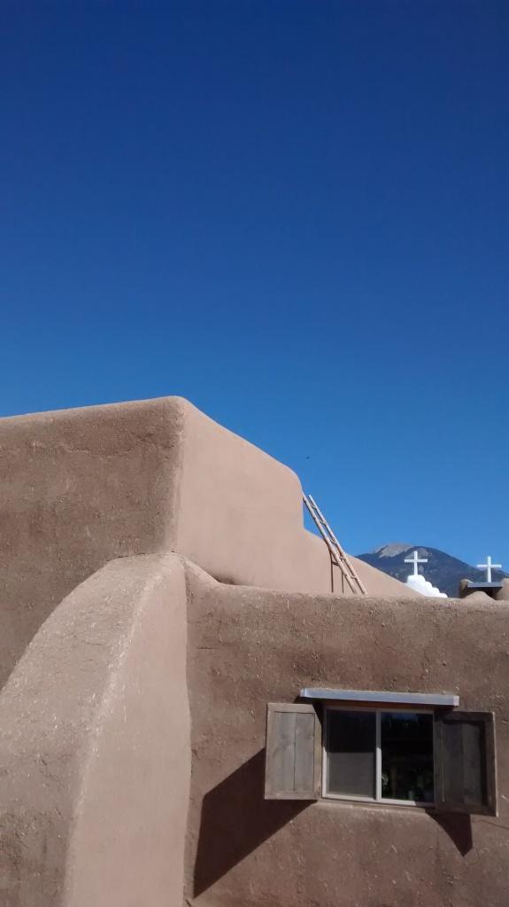 Taos church ladder