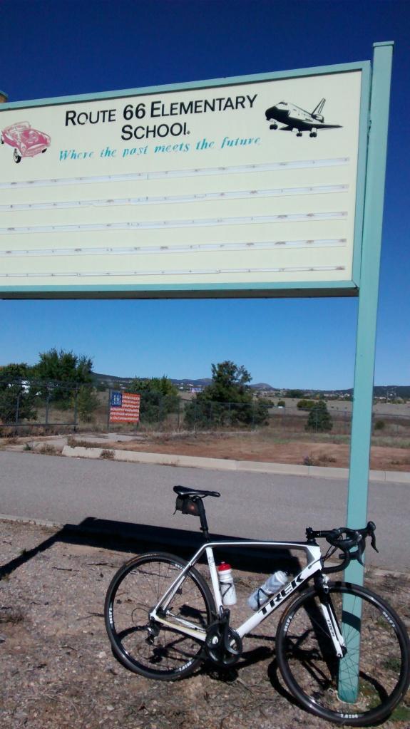Route 66 Elementary School drive fly bike