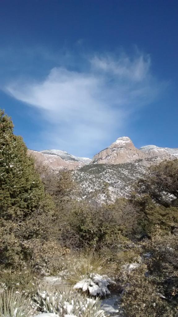 ABQ mountain clouds