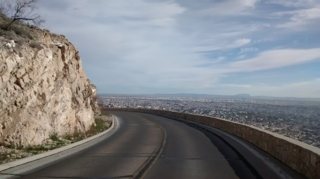 El Paso road over city