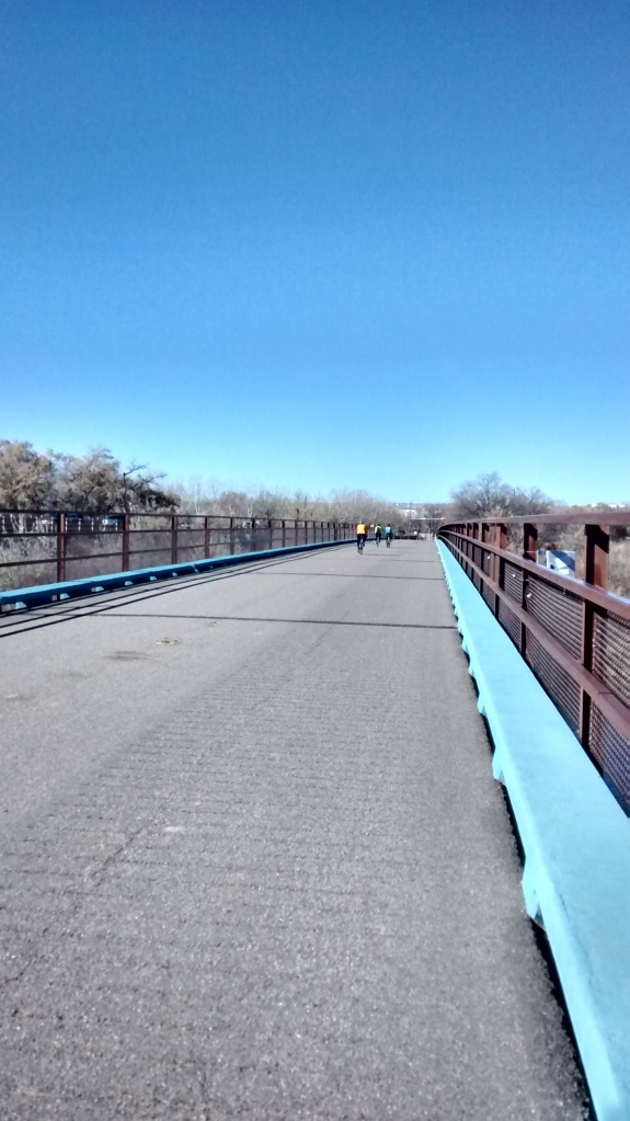 Old Alameda bridge at Rio Grande crossing