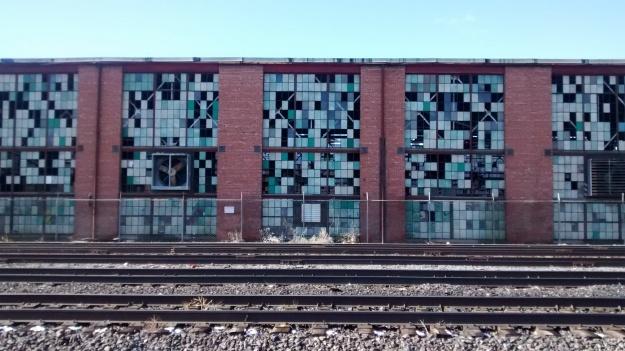 Railyard green window sash
