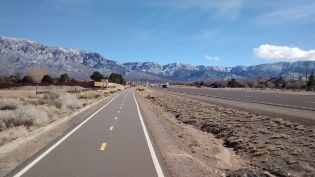 ABQ bike Paseo del Norte Trail