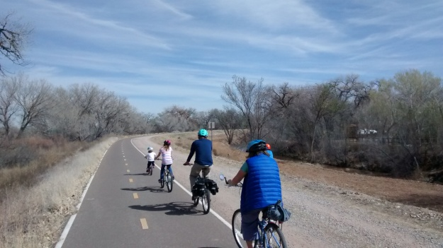 Bosque family cycling