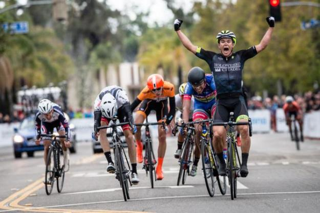 Travis Mcabe wins the Sunset Roadrace at Redlands 2016. Photo Jonathan Devich/epicimages.us